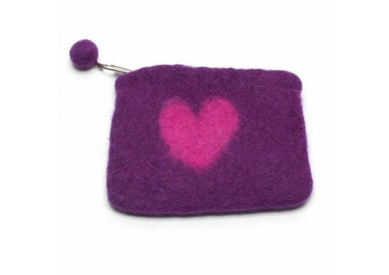 Heart Purse - Purple